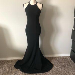 Lulus Girl in the Mirror Black Beaded Maxi Dress